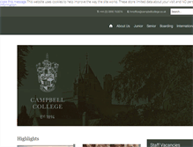 Tablet Preview of campbellcollege.co.uk